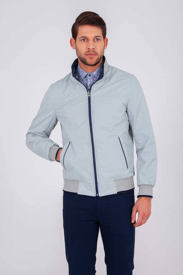 Navy Double Sided Casual Jacket