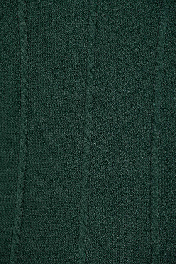 Green Polo Neck Buttoned Sweater
